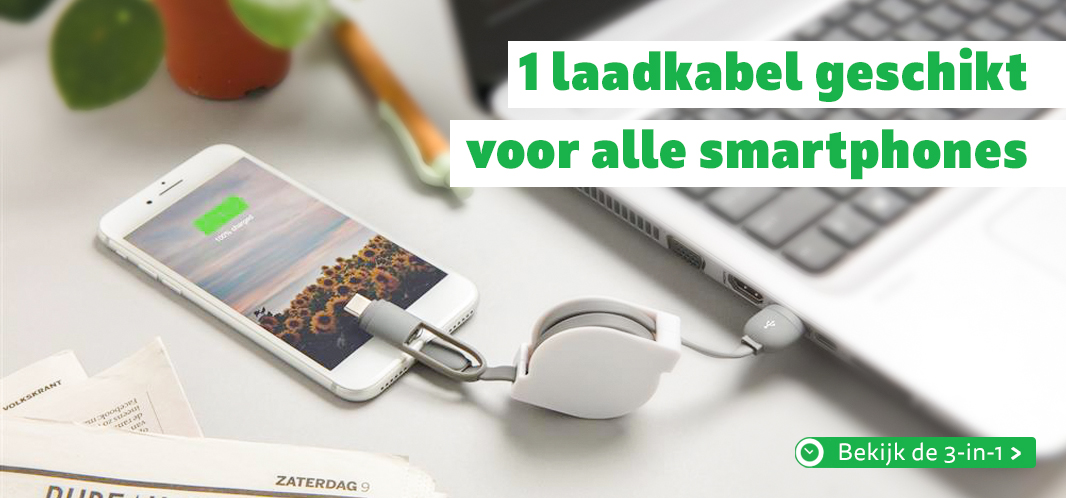 3 in 1 laadkabel